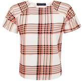 Select Fashion Fashion Womens Orange Neon Grid Check Box Fit - size 10