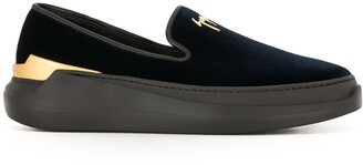 Giuseppe Zanotti Logo Slip-On Loafers