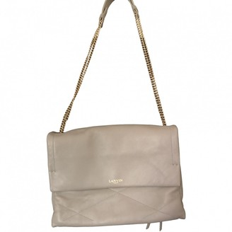 Lanvin Sugar Grey Leather Handbags