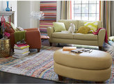 Almafi Leather Oval Bench