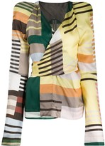 Rick Owens Uxmal-print wrap blouse