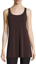 Eileen Fisher Jersey Sleeveless Scoop-Neck Tunic, Clove