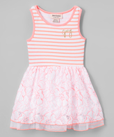 Juicy Couture Pink & White Stripe Sleeveless Dress - Infant Toddler & Girls