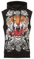 Philipp Plein Plein Tiger Hooded Sleeveless Sweatshirt