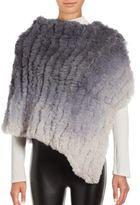 La Fiorentina Ombre Rabbit Fur Shawl