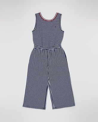Tommy Hilfiger Girl's Blue Jumpsuits - Stripe Knit Jumpsuit - Teens - Size 10 YRS at The Iconic
