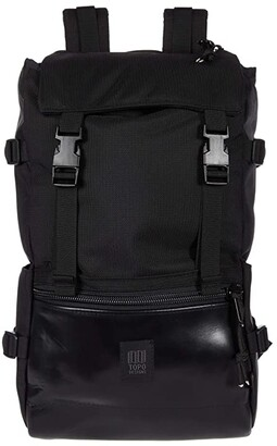 Topo Designs Rover Pack - Leather (Ballistic Black/Black Leather) Backpack Bags