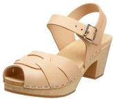 swedish hasbeens Women's Peep Toe High Ankle Strap Sandal