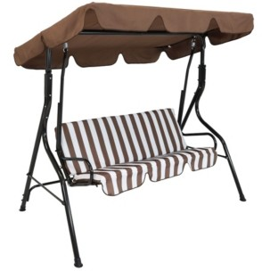 Sunnydaze Decor Outdoor Adjustable Canopy and Durable Steel Frame 2-Person Porch Swing