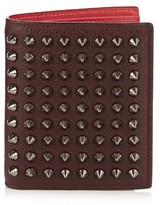 Christian Louboutin Paros bi-fold spike leather wallet