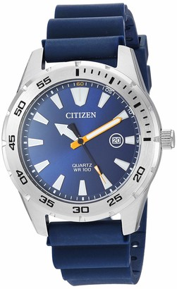 Citizen Men's Stainless Steel Japanese Quartz Polyurethane Strap
