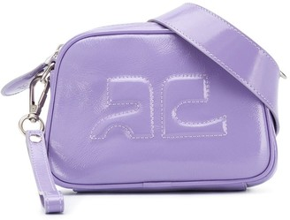 Courreges Logo Embossed Leather Belt Bag