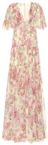 Giambattista Valli Tiered floral silk maxi dress