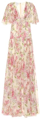 Giambattista Valli Tiered floral silk maxi dress