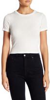 Alice + Olivia Jazmine Short Sleeve Crew Neck Crop Top