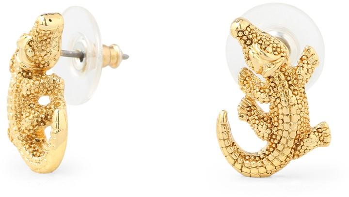 C. Wonder Alligator Stud Earrings