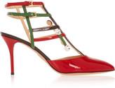 Charlotte Olympia MOMA Swarovski crystal-embellished patent-leather pumps