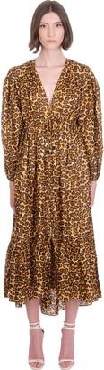 Zimmermann Amelie Draw Lon Dress In Animalier Silk
