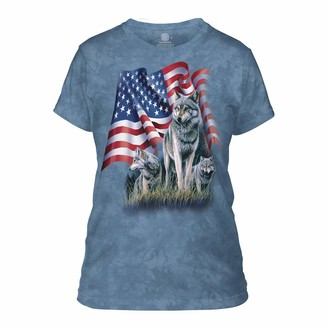 The Mountain Women's Wolf Flag Apparel