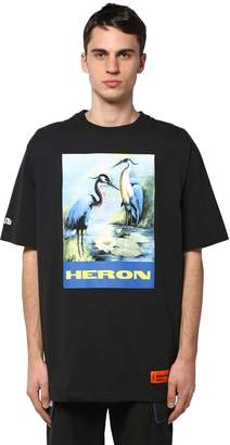 Heron Preston PRINTED OVER COTTON JERSEY T-SHIRT