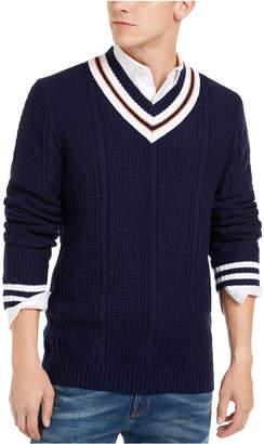 Club Room Men Textured Cricket Sweater