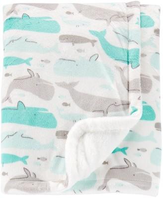 Carter's Baby Boy Plush Whales Blanket