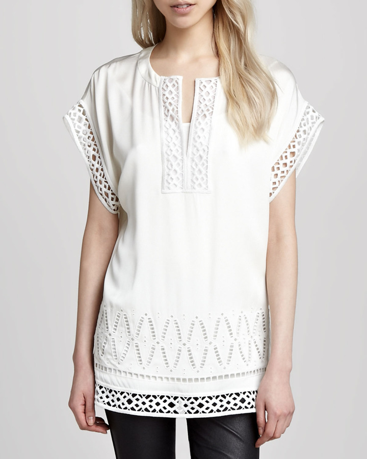Catherine Malandrino Cutout-Trim Tunic