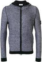 Stone Island block panel zip hoodie