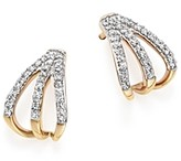 Adina 14K Yellow Gold Pave Diamond Triple Huggie Hoop Earrings