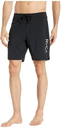 RVCA Eastern Trunk 18 (All Black) Men's Swimwear