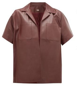 Dodo Bar Or Yulanda Leather Shirt - Burgundy