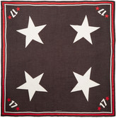 Givenchy Tricolor Stars & Numbers Scarf