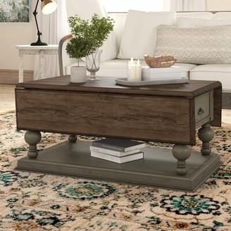 Three Posts Sandbach Extendable Floor Shelf Coffee Table with Storage