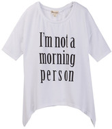 Ten Sixty Sherman I&m Not A Morning Person Tee (Big Girls)