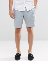 Asos Skinny Tailored Chino Shorts In Light Blue