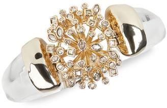 Alexis Bittar Crystal Burst Lucite Hinge Bracelet