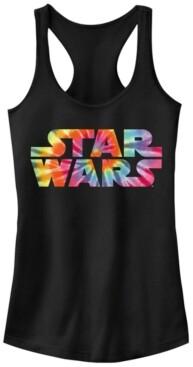 Fifth Sun Star Wars Tie Dye Logo Fill Ideal Racer Back Tank