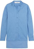 Tibi Stretch-cotton Chambray Shirt - Blue