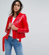 Warehouse Vinyl Faux Leather Jacket