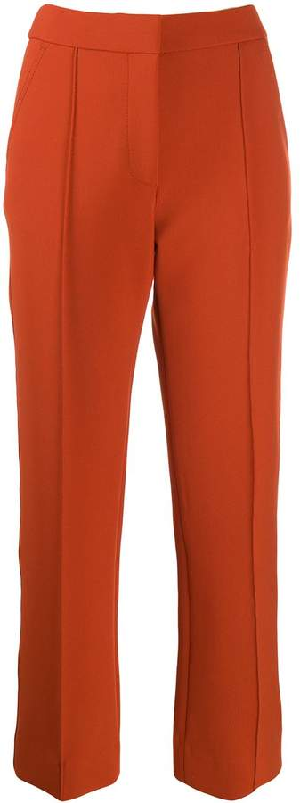 Victoria Victoria Beckham flared cropped trousers