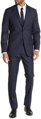 Theory Xylo Nested Sharkskin Two Button Notch Lapel Suit
