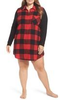 Make + Model Plus Size Women's Flannel Nightshirt