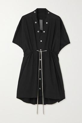 Rick Owens Sail Tie-detailed Cotton-poplin Mini Dress