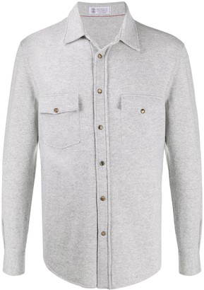 Brunello Cucinelli Pointed Toe Knitted Shirt