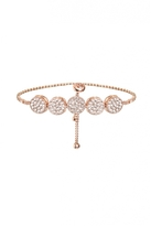 Quiz Rose Gold Diamante Circle Bracelet