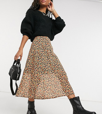 Wednesday's Girl midi skirt in ditsy floral co-ord