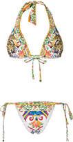 Dolce & Gabbana printed string bikini