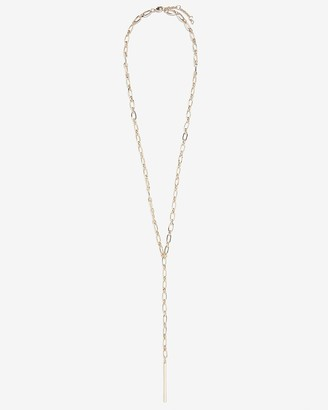 Express Bar Pendant Long Chain Y Necklace