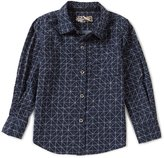 First Wave Little Boys 2T-7 Printed Long-Sleeve Woven Shirt