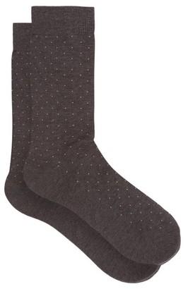 Pantherella Gadsbury Pin-dot Socks - Mens - Grey